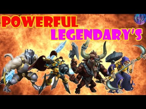 Monster Legends RPG | TOP 20 POWERFUL MONSTERS OF ALL TIME (2018)