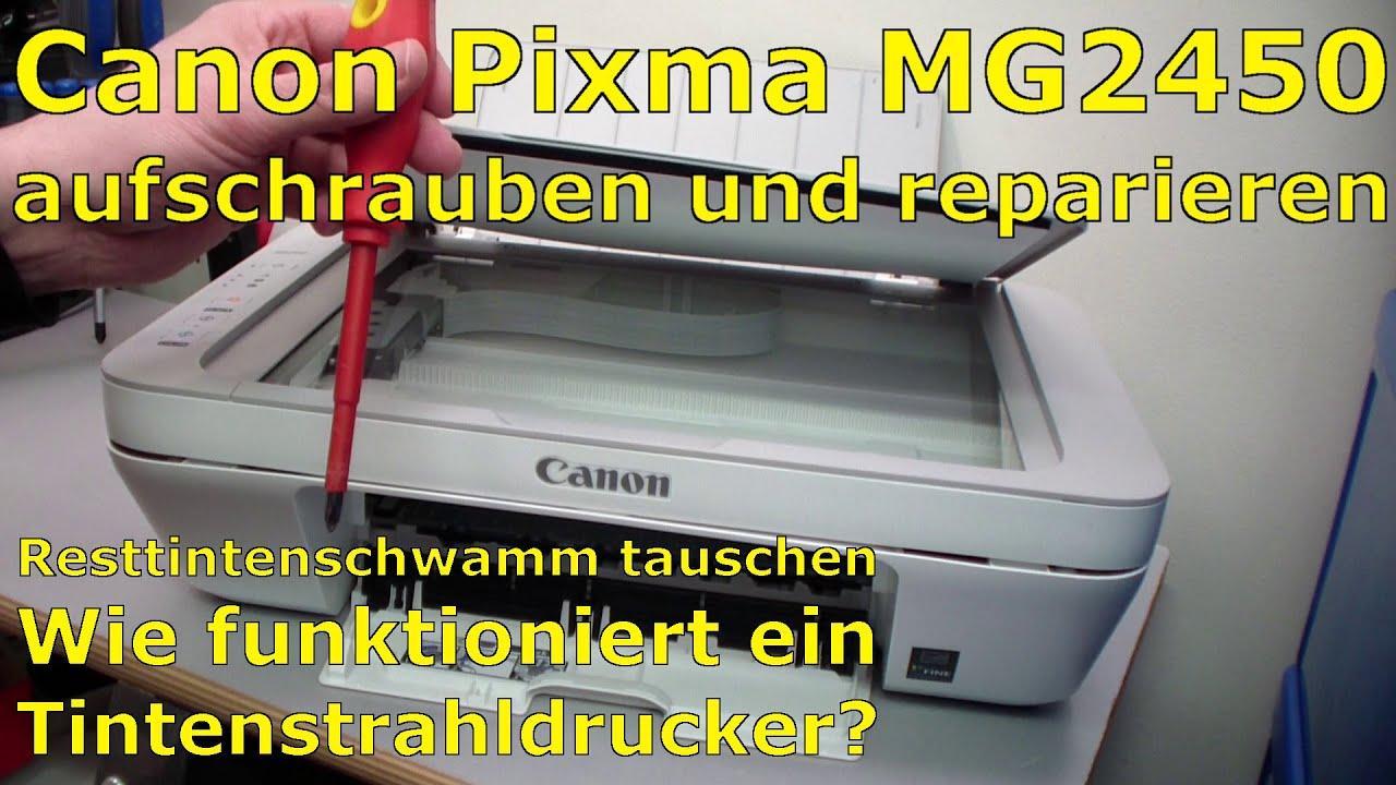 canon pixma mg2450 mfc aufschrauben und reparieren youtube. Black Bedroom Furniture Sets. Home Design Ideas