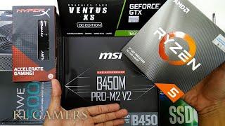 AMD Ryzen 5 3600 msi B450M PRO-M2 V2 intel SSD6 msi GTX 1660 VENTUS XS OC Q300L Gaming Rig 2019