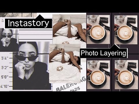How I edit Instagram stories - Photo video layering