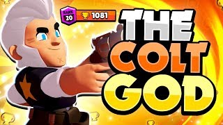 The Colt GOD! - This Pro Player ONLY Plays With Colt u0026 Destroys! - Brawl Stars