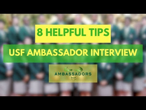 8 HELPFUL TIPS | USF Ambassador Interview