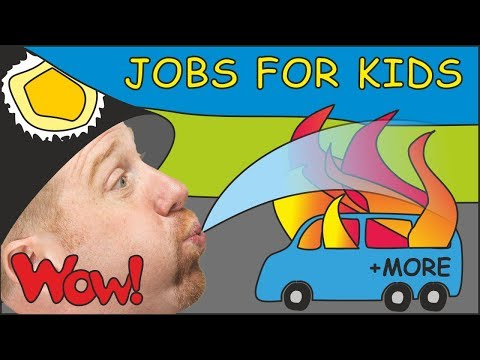 Jobs for Kids with Steve and Maggie   + MORE Magic Stories for Children   Speak with Wow English TV