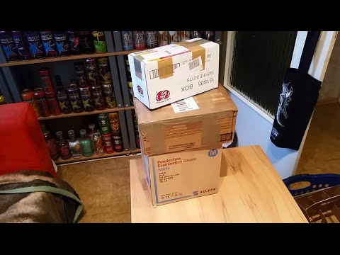 MEGA UNBOXING: FREE ENERGY DRINKS BIG SHOCK / MONSTER & ROCKSTAR
