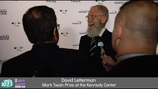 Jimmy Alexander with David Letterman at Mark Twain Prize