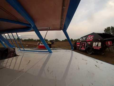 Logan Kirkman In Car Cam - Montpelier Motor Speedway B-Main 8-5-17