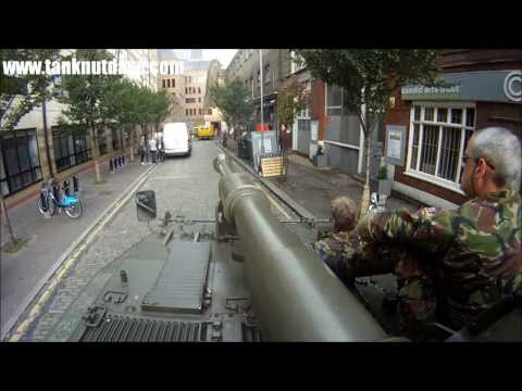 Parking a Tank after a 3 point turn in a narrow London Street