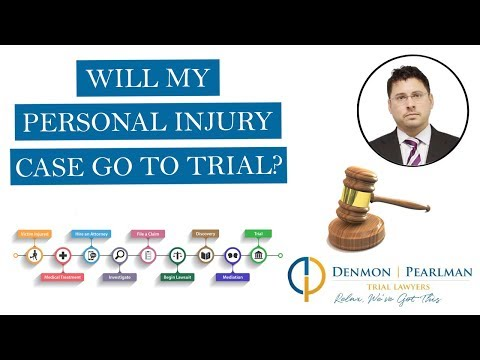 Will My Personal Injury Case Go To Trial?