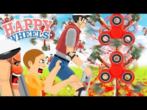 POGO VS EL FIDGET SPINNER DE HACHAS | HAPPY WHEELS #179