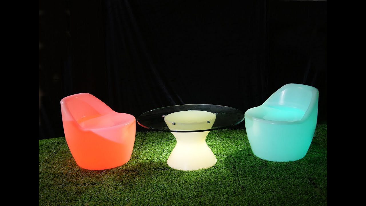 Exceptionnel LED Sofa SL LSC70, LED Stool SL LSC5656, LED Chair , LED Furniture   YouTube