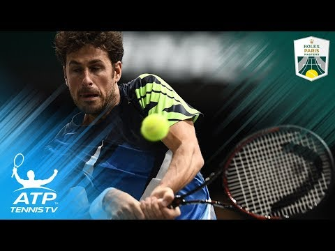 Robin Haase's amazing bounce-back volley vs Del Potro | Rolex Paris Masters 2017