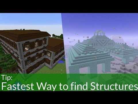 Fastest Way To Find End Cities/ Strongholds & Mansions in Minecraft