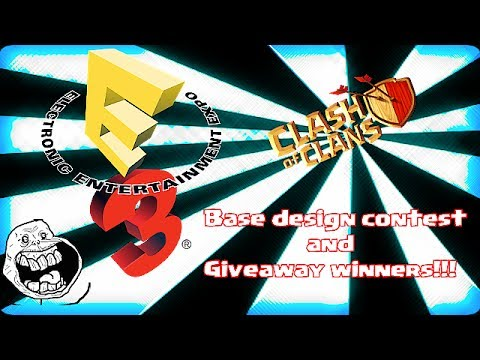 E3 tour, Base design contest & Giveaway winners