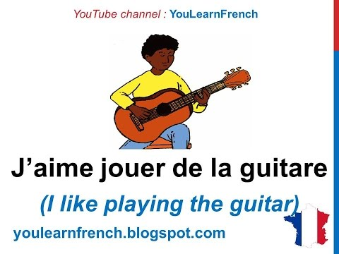 French Lesson 21 - HOBBIES in French SPORTS Vocabulary - Passe-temps Pasatiempos en francés