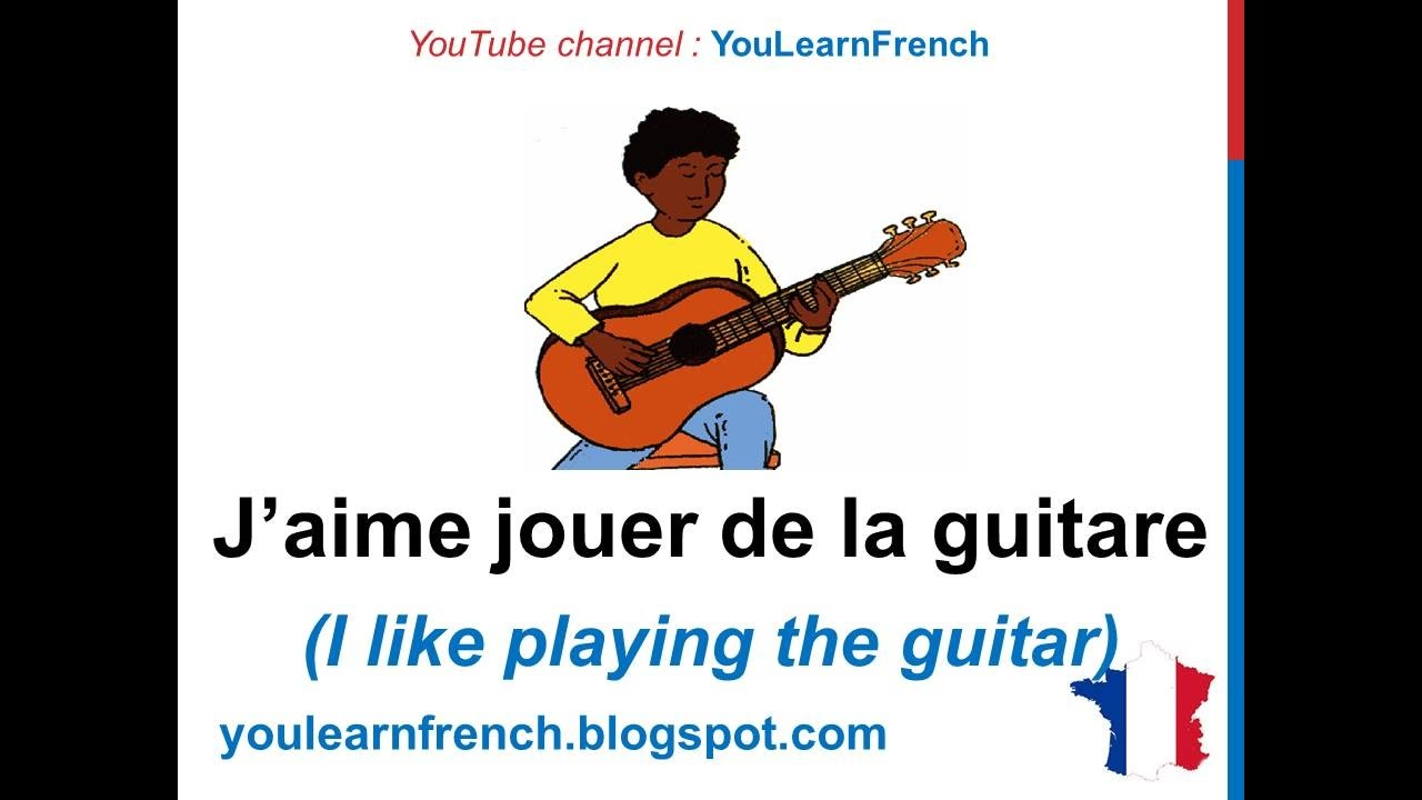 Essay about hobbies in french