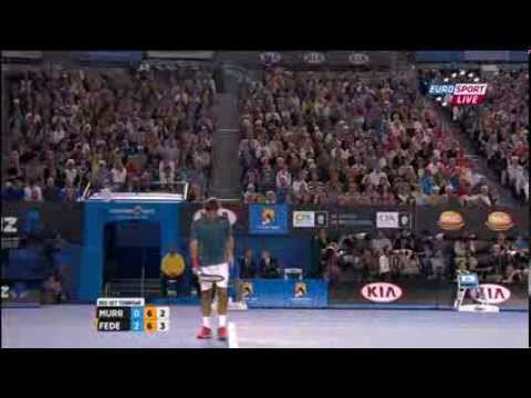 Roger Federer vs Andy Murray  - Australian Open 2014 3rd Set (tiebreak)