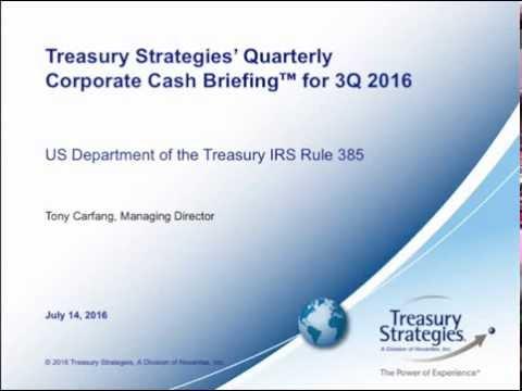 US Treasury - IRS Rule 385  Corporate Inversions