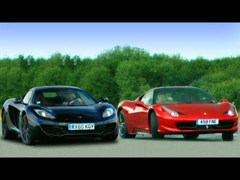 McLaren MP4-12c vs Ferrari 458 Italia - Fifth Gear