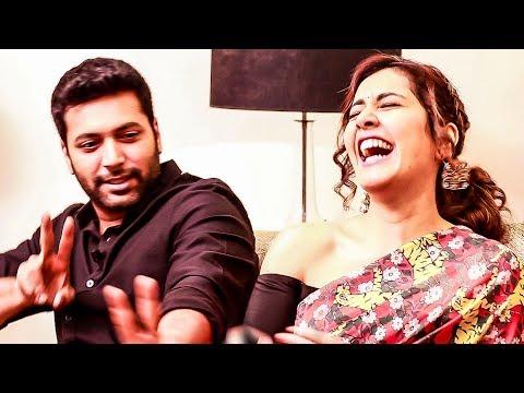 Troll O Troll - Jayam Ravi Imitates Raashi Khanna - Marana fun