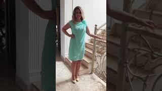 P 0081 Платье коктейльное прямого кроя video
