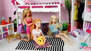 Disney Frozen Slaapkamer : Barbie evening routine princess bedroom frozen queen elsa anna
