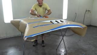Painting FRS carbon fiber hood with black vents