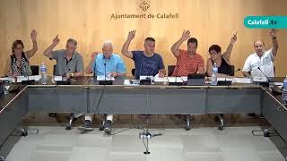 Ajuntament de Calafell: sessió plenària extraordinària, 13 d'agost de 2018