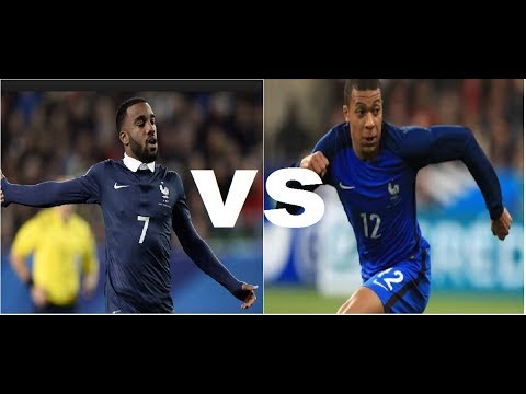 Kylian Mbappe Vs Alexandre Lacazette ● Best striker France ● Goal, Skills, Assists 2017