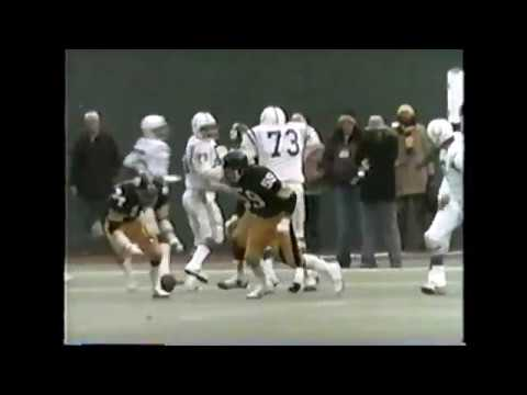 1975 Divisional Playoff  Steelers vs Colts - Andy Russell Snapped on the Fanny by The Terrible Towel