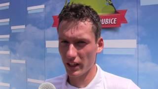 David Poljak po výhře v prvním kole na turnaji Futures v Pardubicích