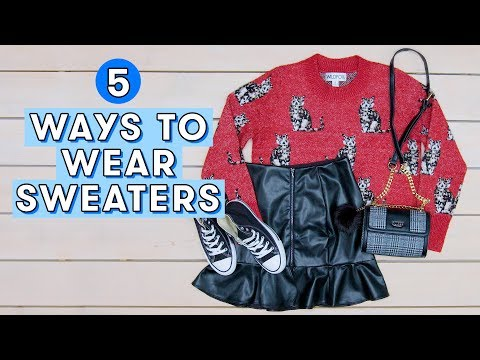 5 Cute Sweater Outfit Ideas for Winter | Style Lab