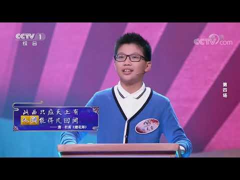 [中国诗词大会]郑坤健对决陈天睿 组合飞花令:人、间| CCTV