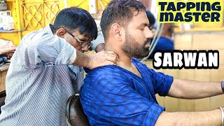ASMR tapping master head massage therapy   neck Cracking by Sarwan
