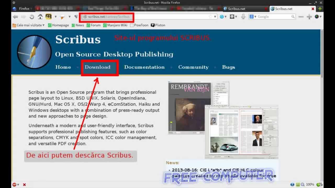 Scribus desktop publisher prezentare generală