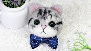 淘宝 梧桐家羊毛毡 · Cat  DIY tutorial 羊毛毡wool felt视频教程教学