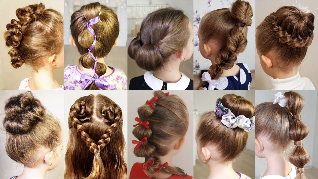 10 Cute 1-Minute Hairstyles For Busy Morning! Quick & Easy Hairstyles For  School!