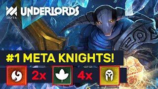#1 META KNIGHTS! Druids Dragon Troll Knights Build! | Dota Underlords