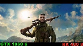 RX 480 8 VS GTX 1060 6 in Sniper Elite 4 (перезалив)