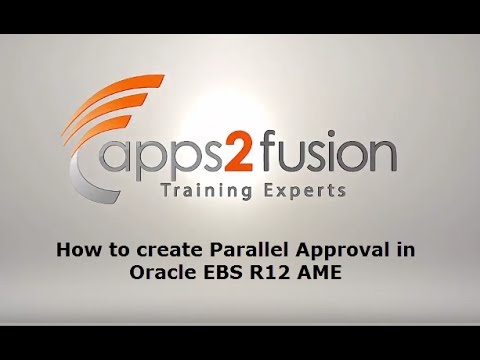 How to create Parallel Approval in Oracle EBS R12 AME