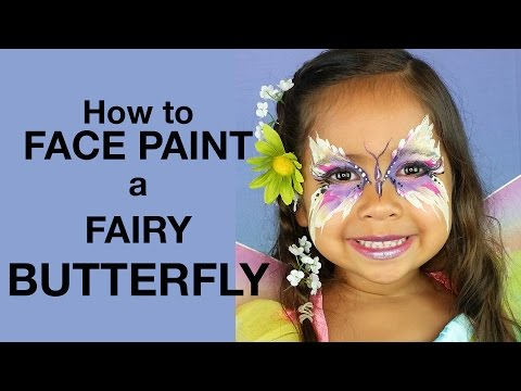 How To Face Paint: Butterfly Fairy Princess & Costume