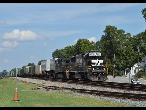 Trains in Kannapolis, NC and Landis, NC on 9/5/18