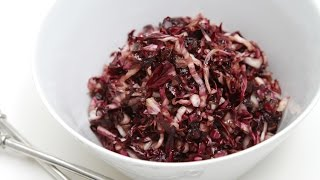 Wilted radicchio with homemade vincotto – A super easy-to-make & beautiful side dish