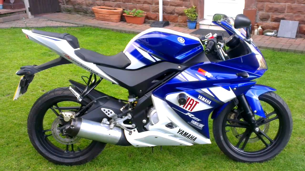 yamaha yzf r 125 rossi replica 09 youtube. Black Bedroom Furniture Sets. Home Design Ideas