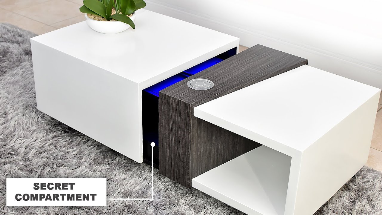Motorized Coffee Table With A Secret 4k Projector