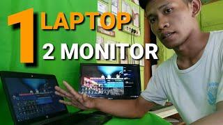 Cara mengaktifkan 1 laptop 2 monitor  Monitor ekternal