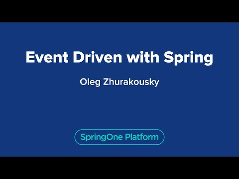 Event Driven with Spring