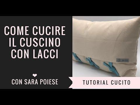 Cucire Federe Per Cuscini Letto.Come Cucire Il Cuscino Con Lacci Youtube
