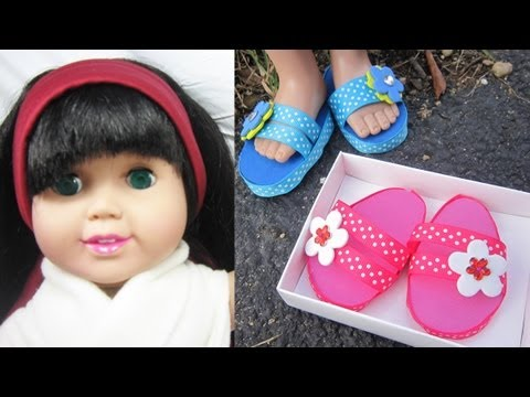 How to make sandals for your american girl doll easy for Easy american girl doll crafts