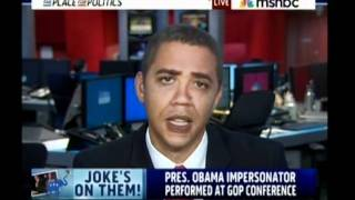 Obama Impersonator At Republican Conference