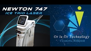 747 Newton Trio laser מכשיר לייזר מקצועי להסרת שיער